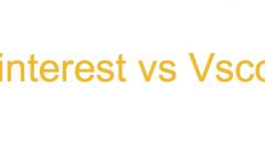 Pinterest vs Vsco